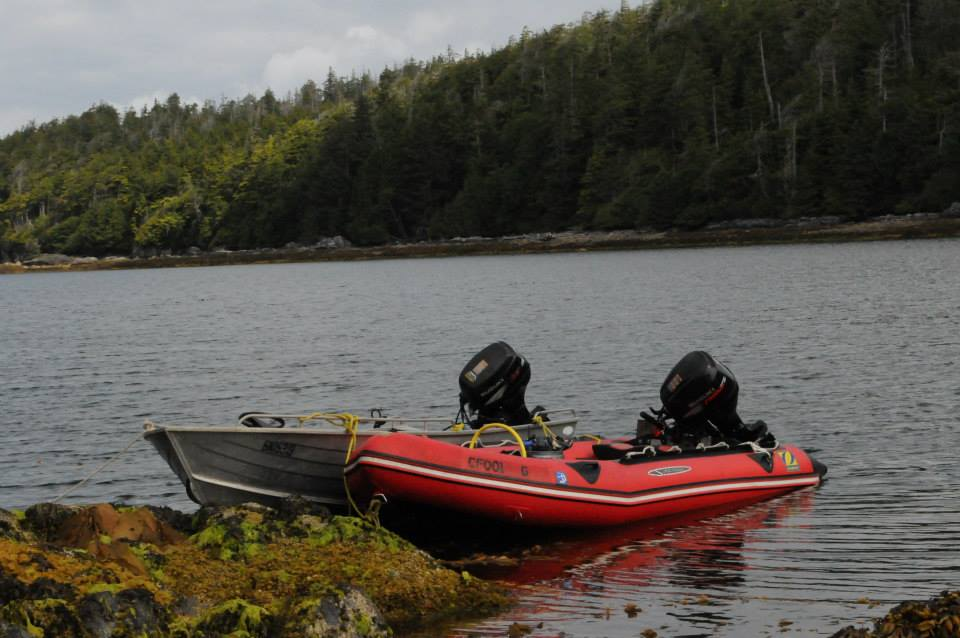Lab boats deployed in British Columbia Canada.