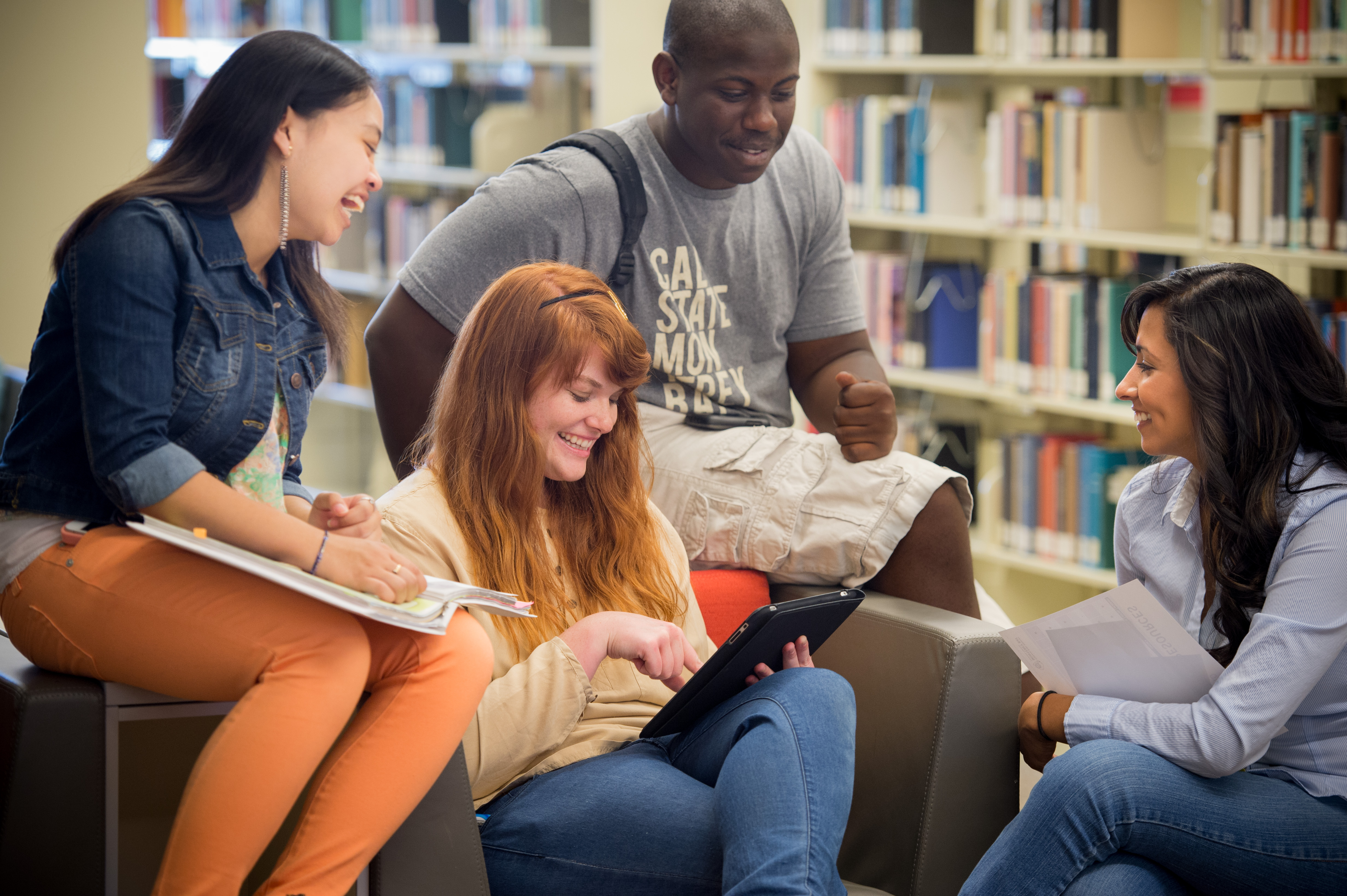 CSUMB Students in Library
