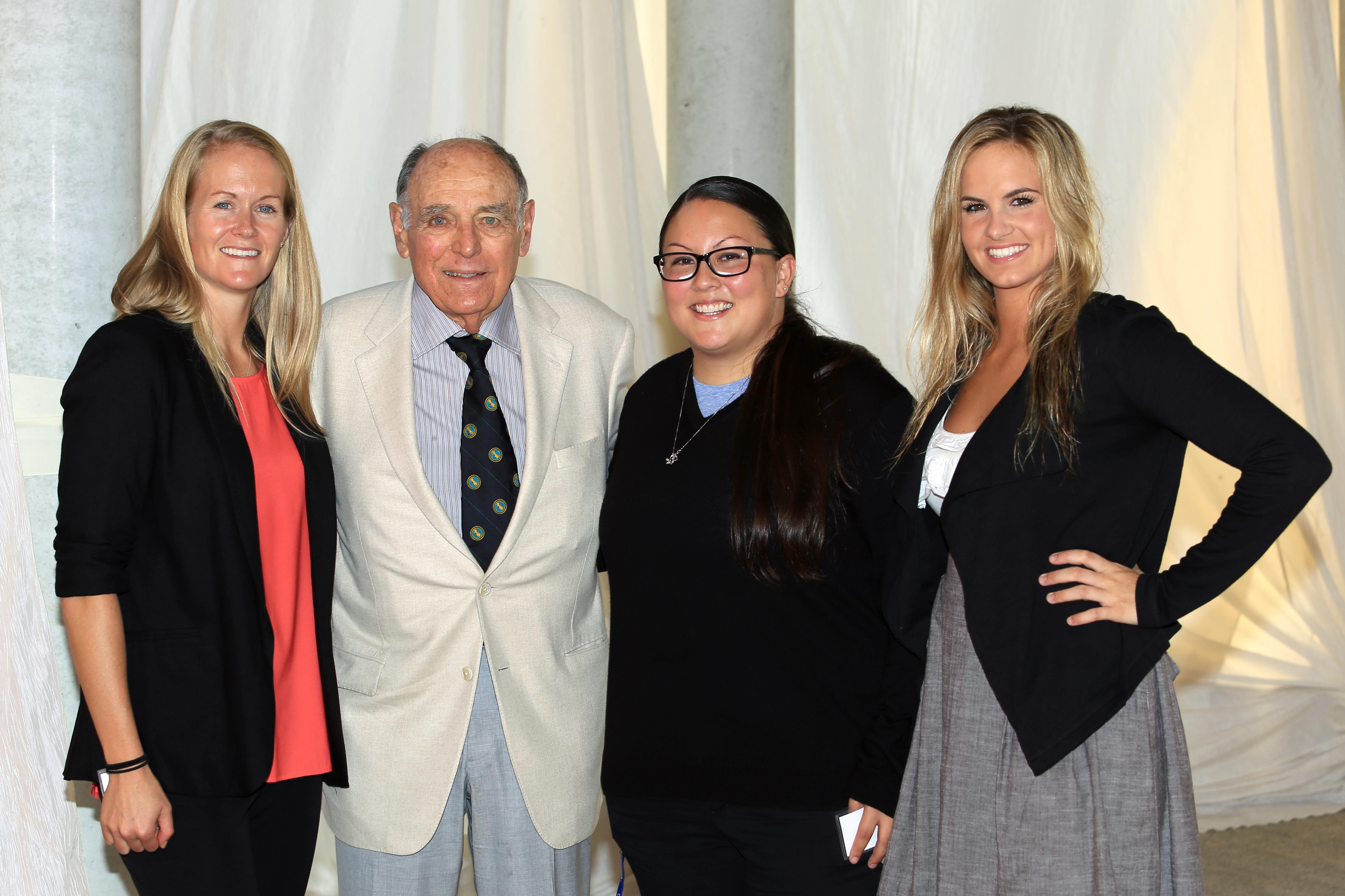 Bob Johnson and his daughters