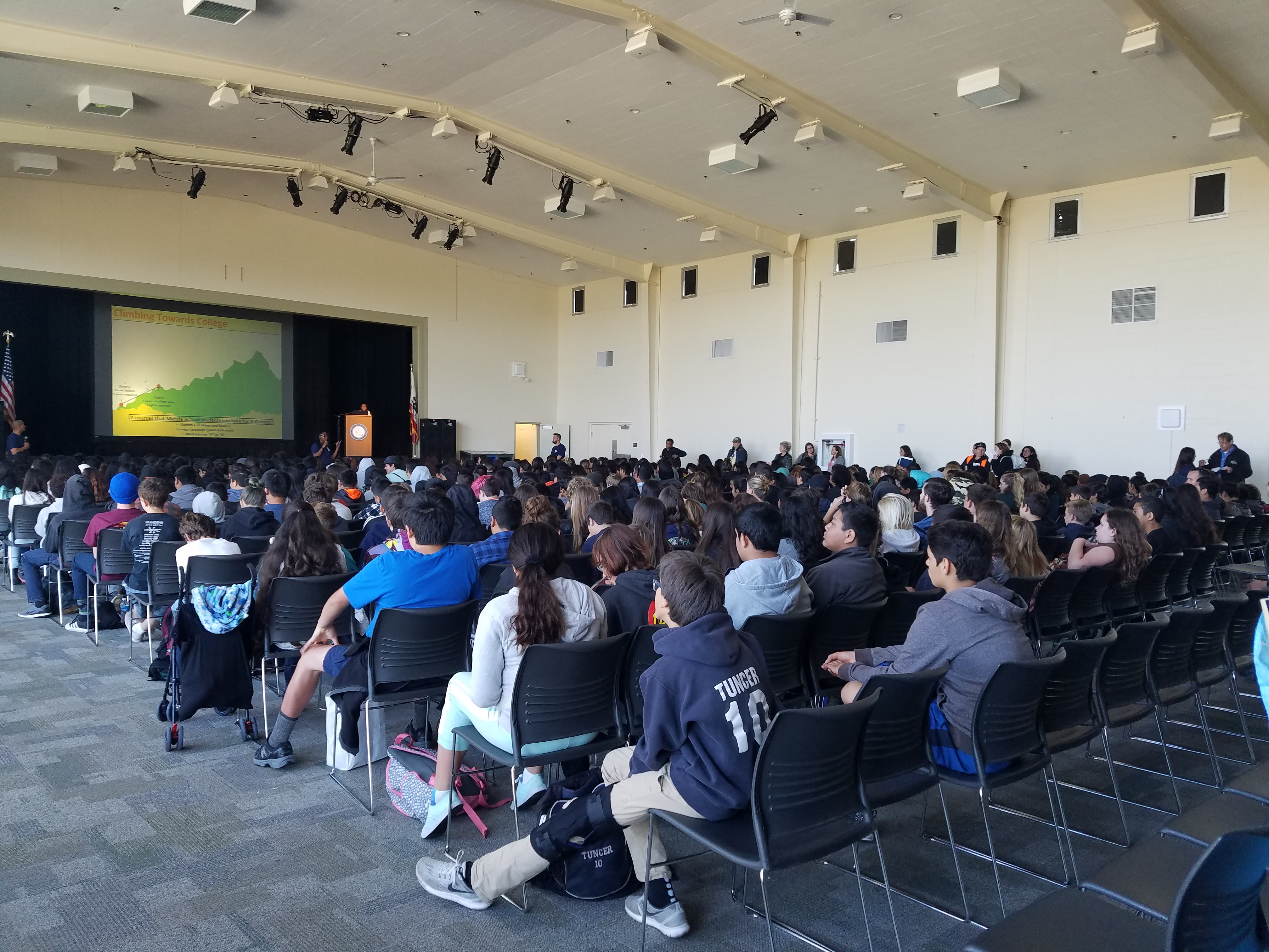 The yearly summit averages 1,400 seventh-graders in participation at CSUMB.