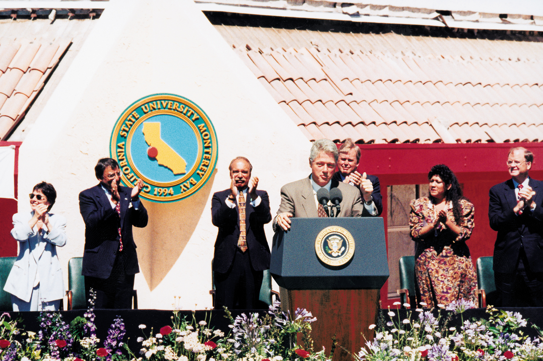 Bill Clinton at CSUMB's dedication ceremony in 1995