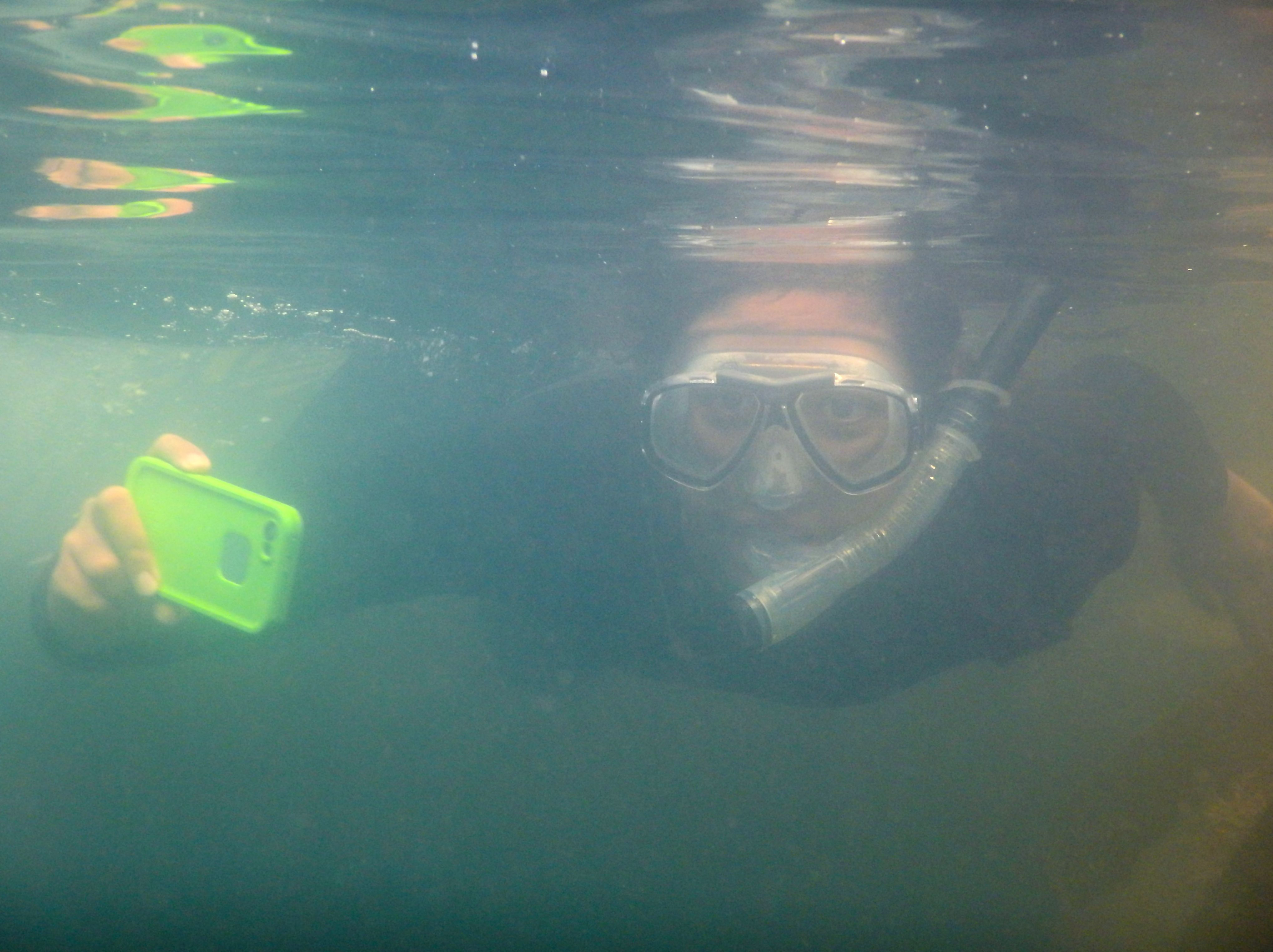 reu student snorkelling