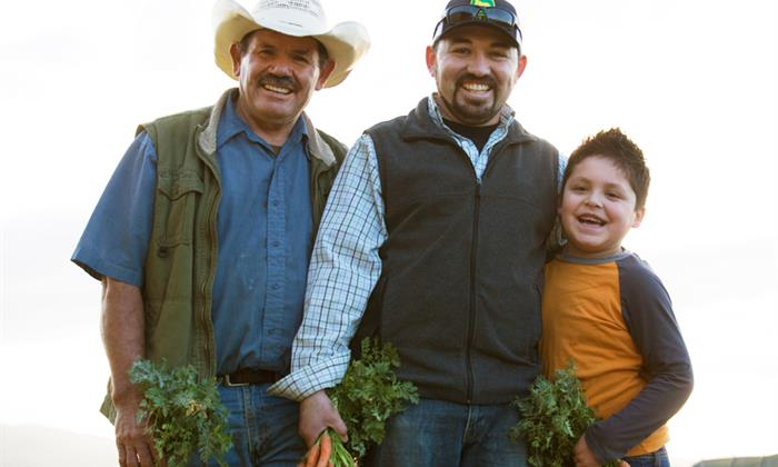 Perez runs J&P Organics with his father, Pablo, though all family members contribute to running the business, including Juan's brother, mother, sister, and wife.