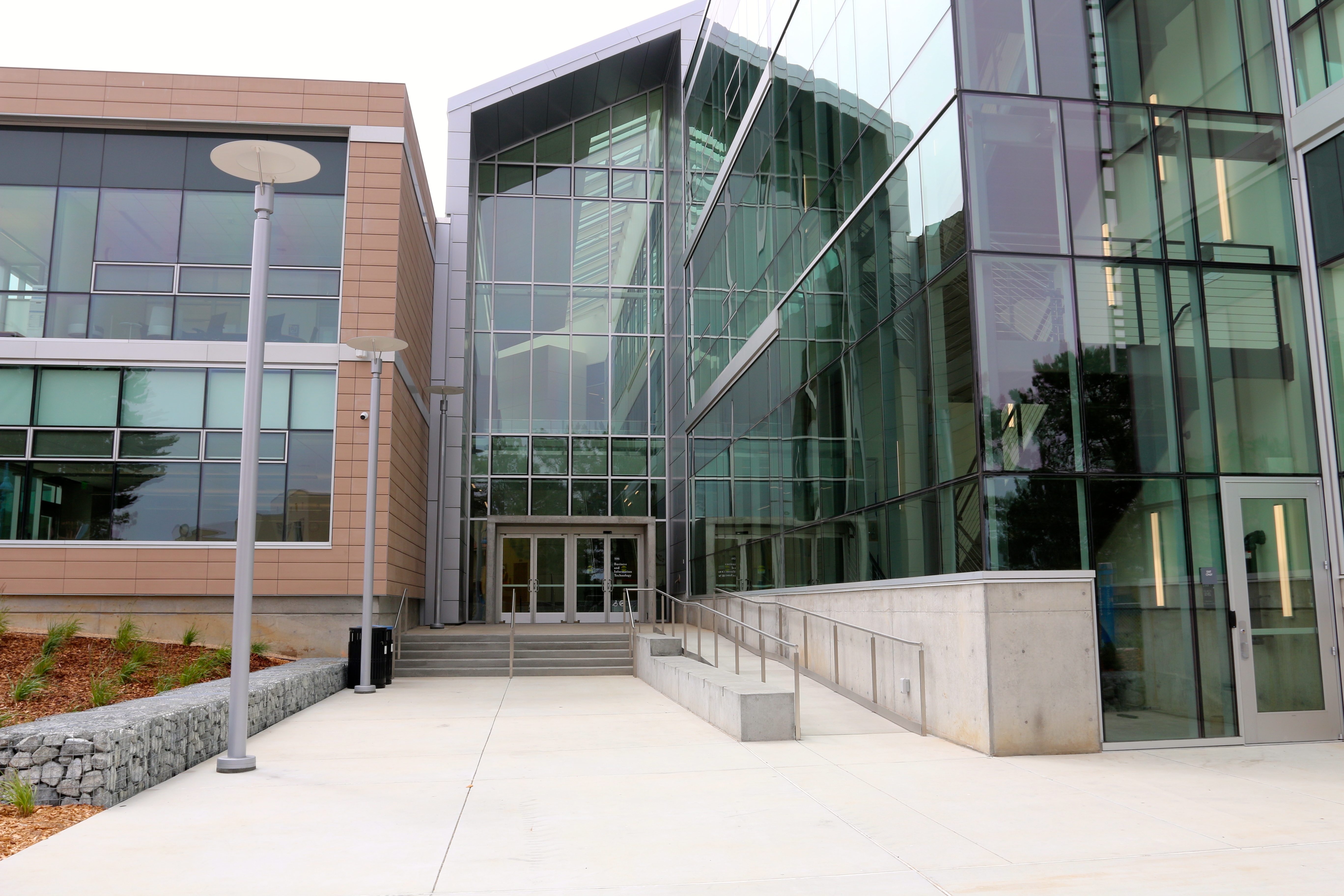 Front entrance of Business and Information Technology Building