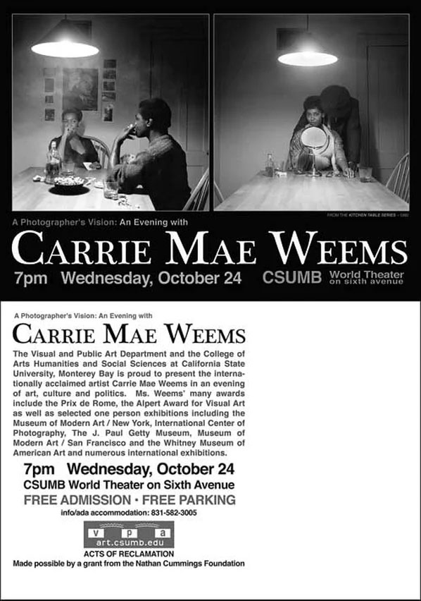 Carrie Mae Weems Flyer