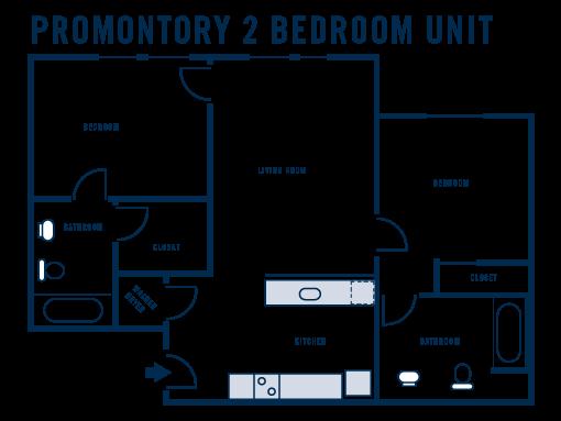 Promontory 2 Bedroom Unit
