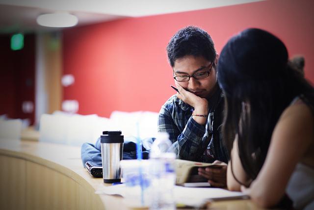 Students studying at CSUMB.