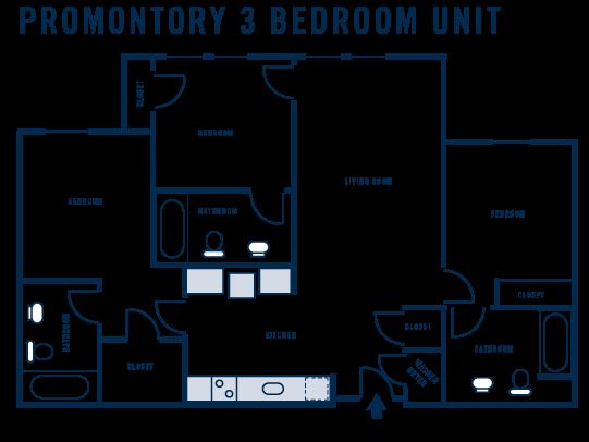 Promontory 3 Bedroom Unit