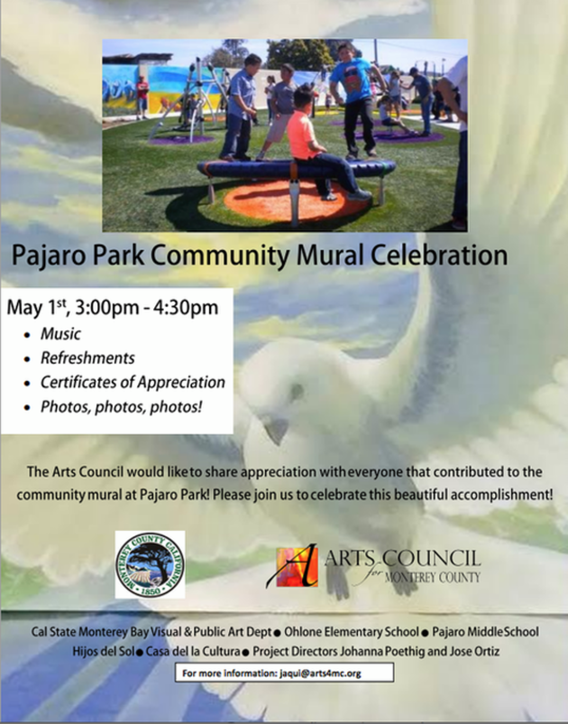 Pajaro Park Community Mural Celebration Flyer