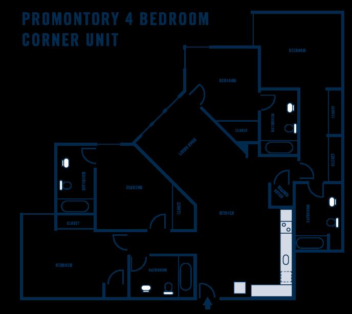 Promontory 4 Bedroom Corner Unit