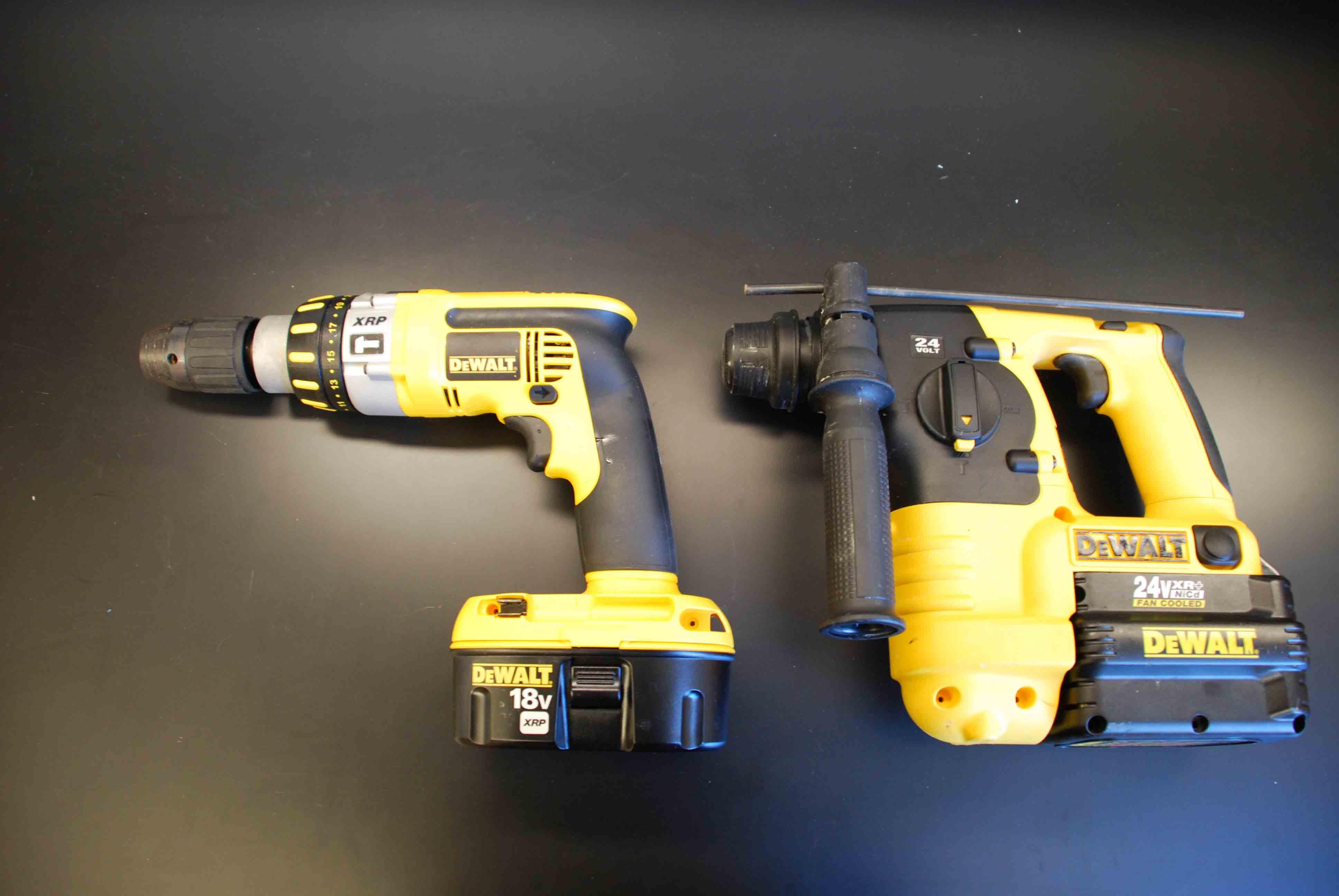 Dewalt 18 volt and 24 volt rotary hammers