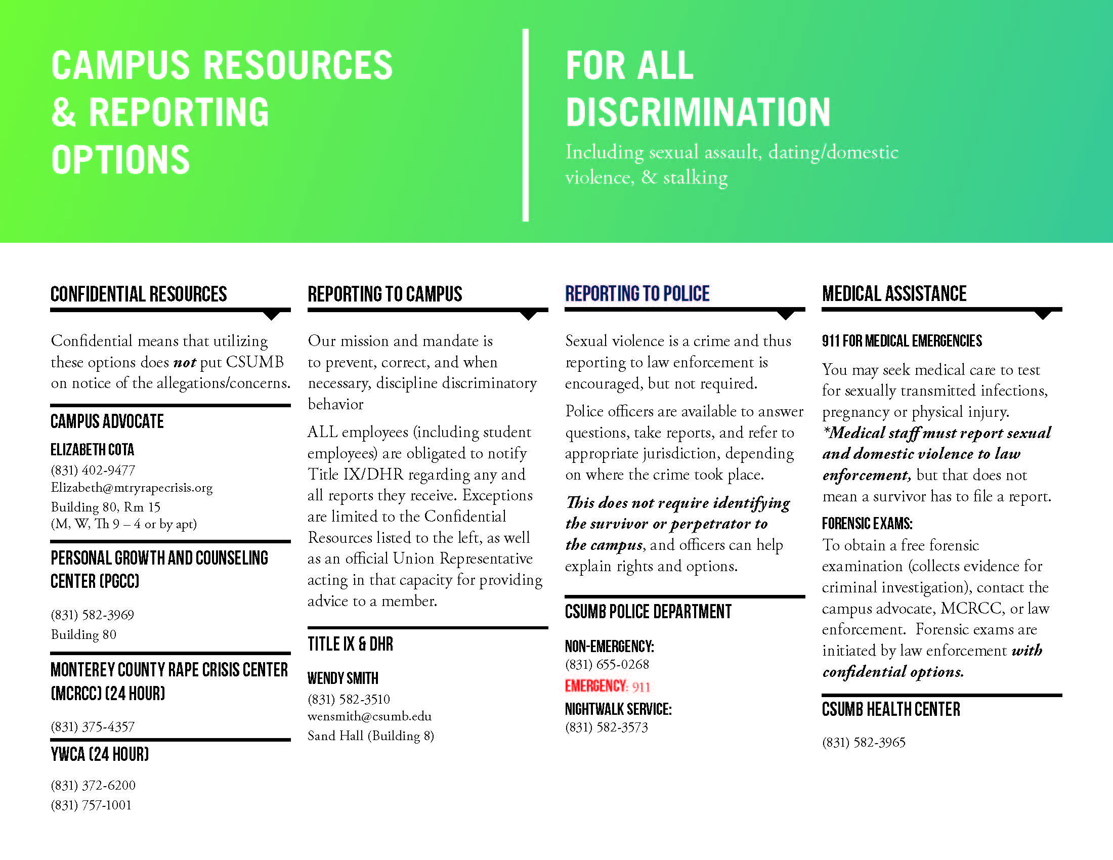 Quick Reference Guide_Resource Information