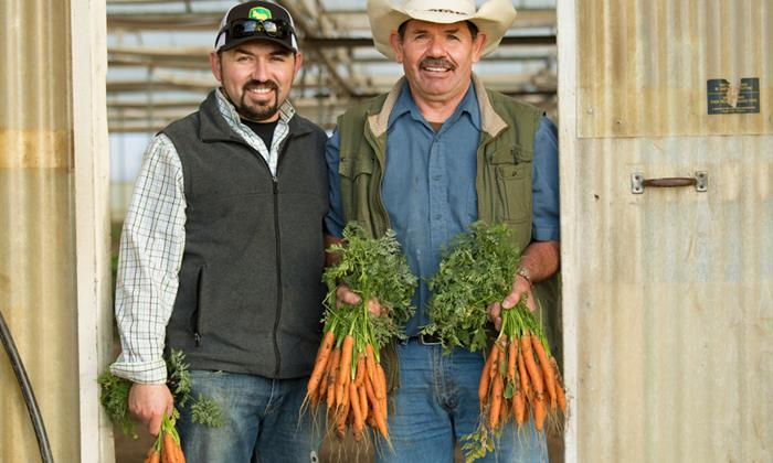 """""""There are four families that depend on this farm, and everybody has a role to play,"""" says Perez. """"But the best part is that we are doing it together, and we get to be with each other every day."""""""