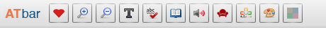 Image of AT Toolbar with icons
