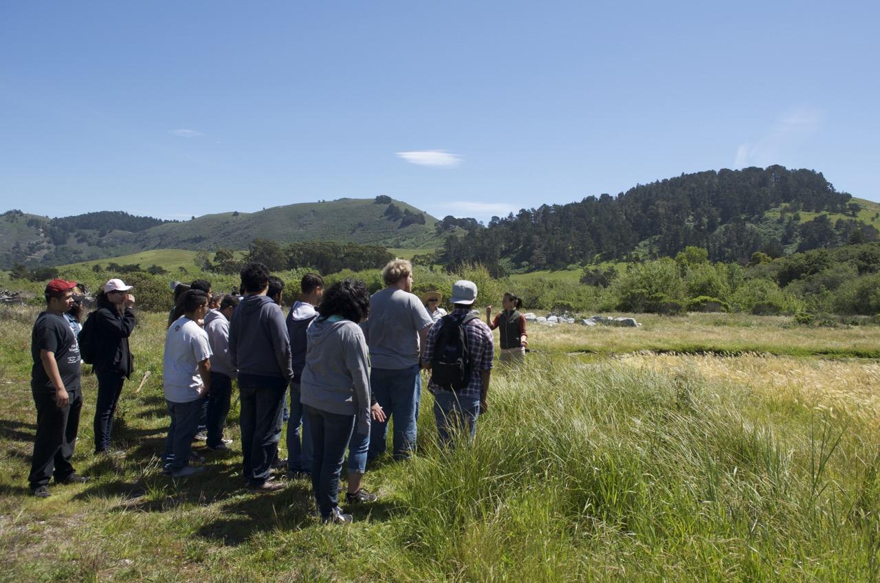 Habitat restoration field trip at the Carmel River
