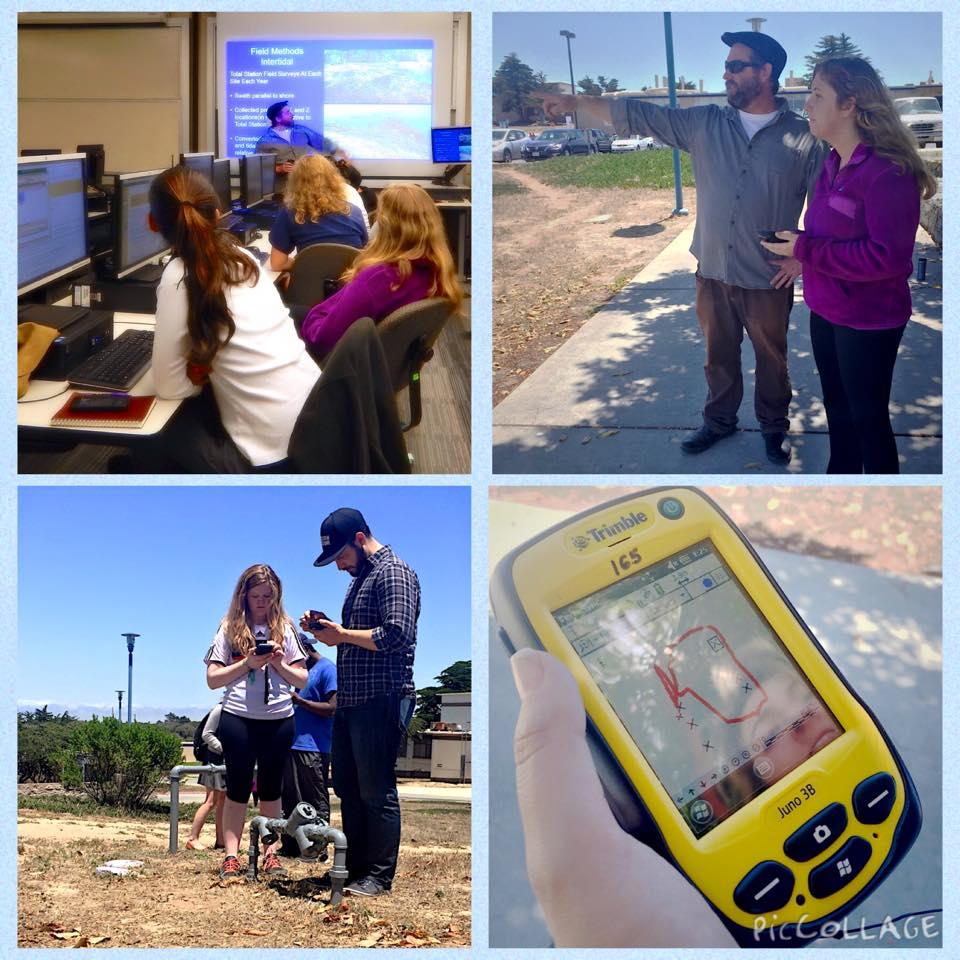 REU students learning basic GIS skills during a summer workshop