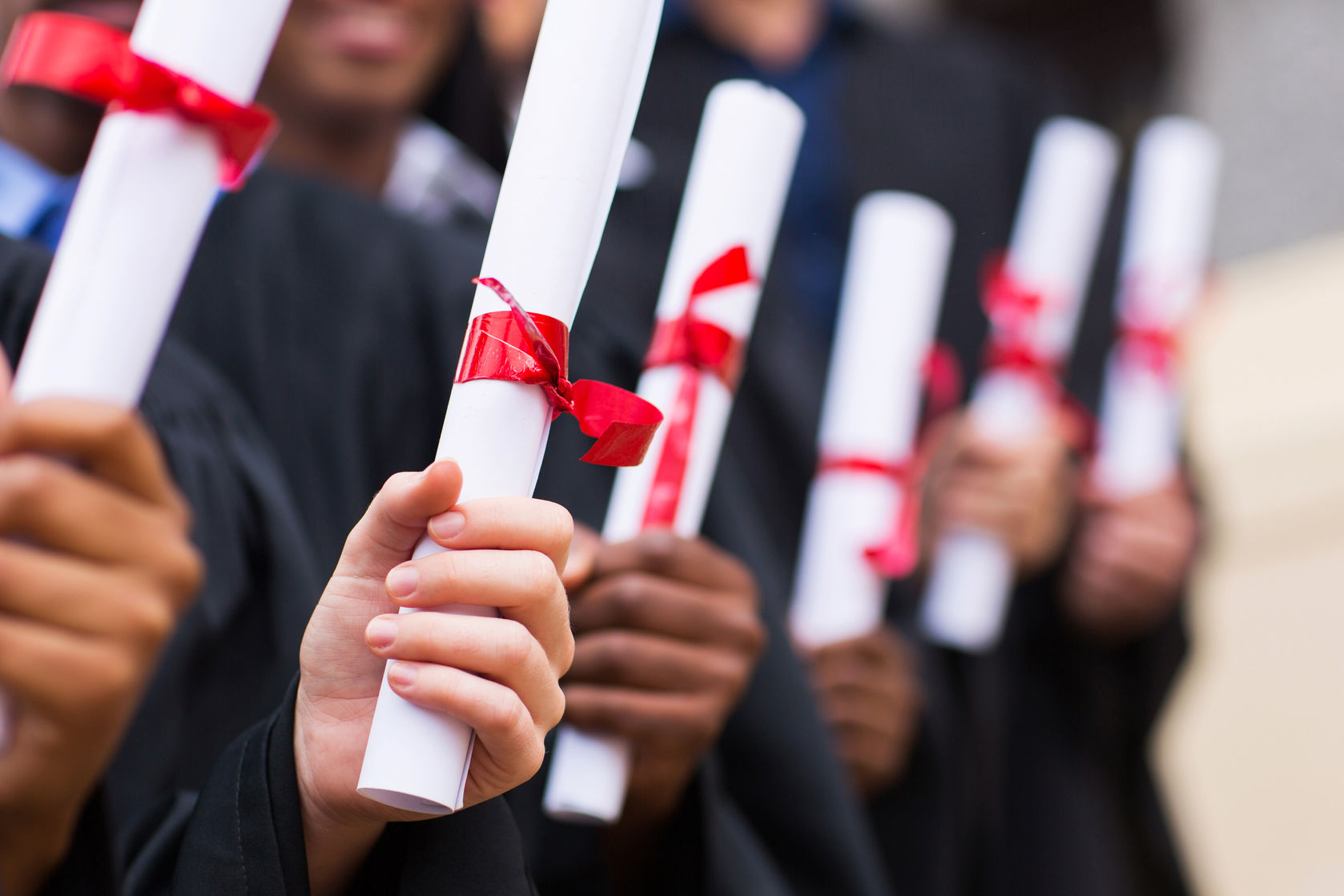 Degrees -  of graduates holding diplomas