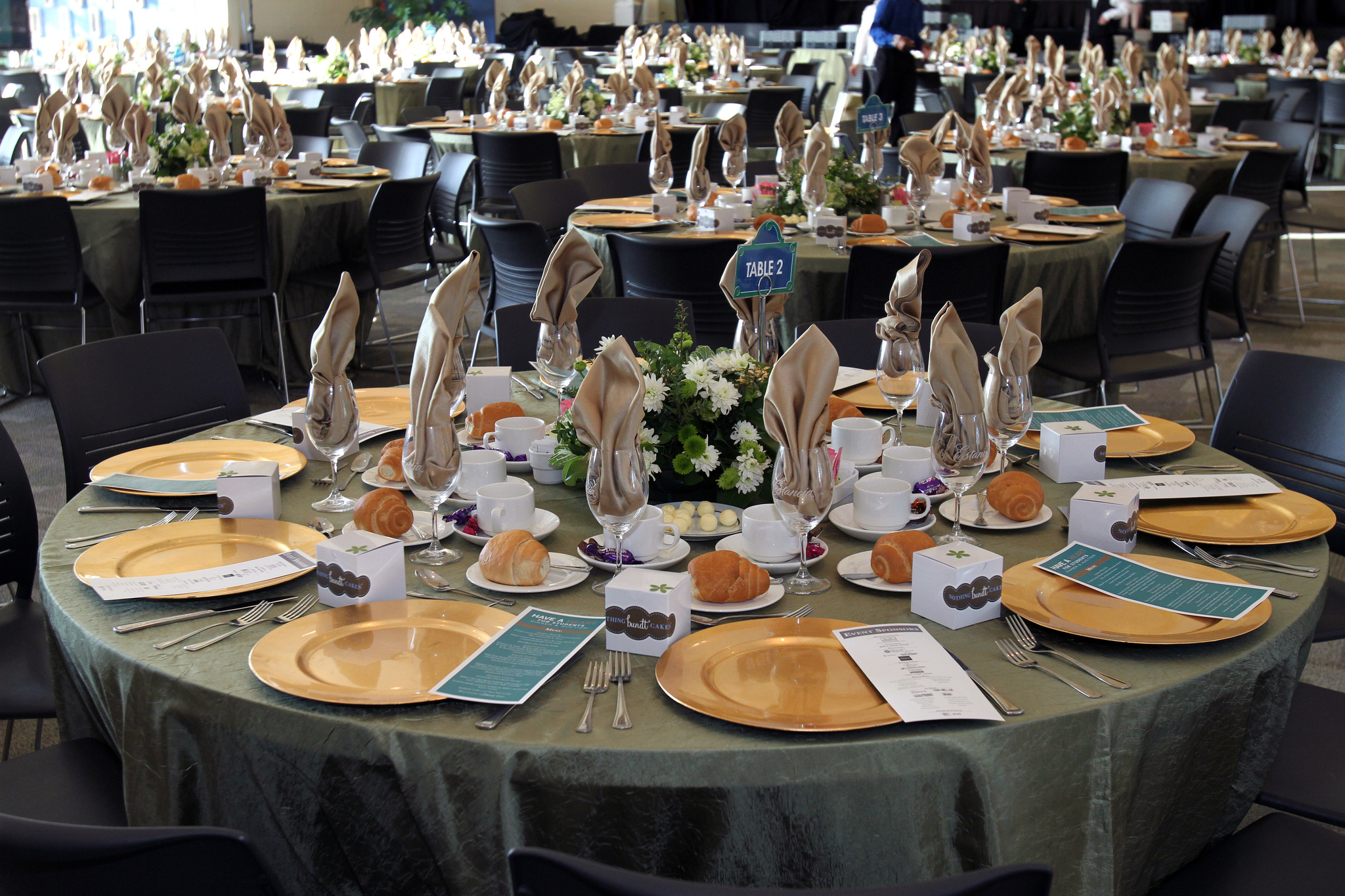 Table setting at special event