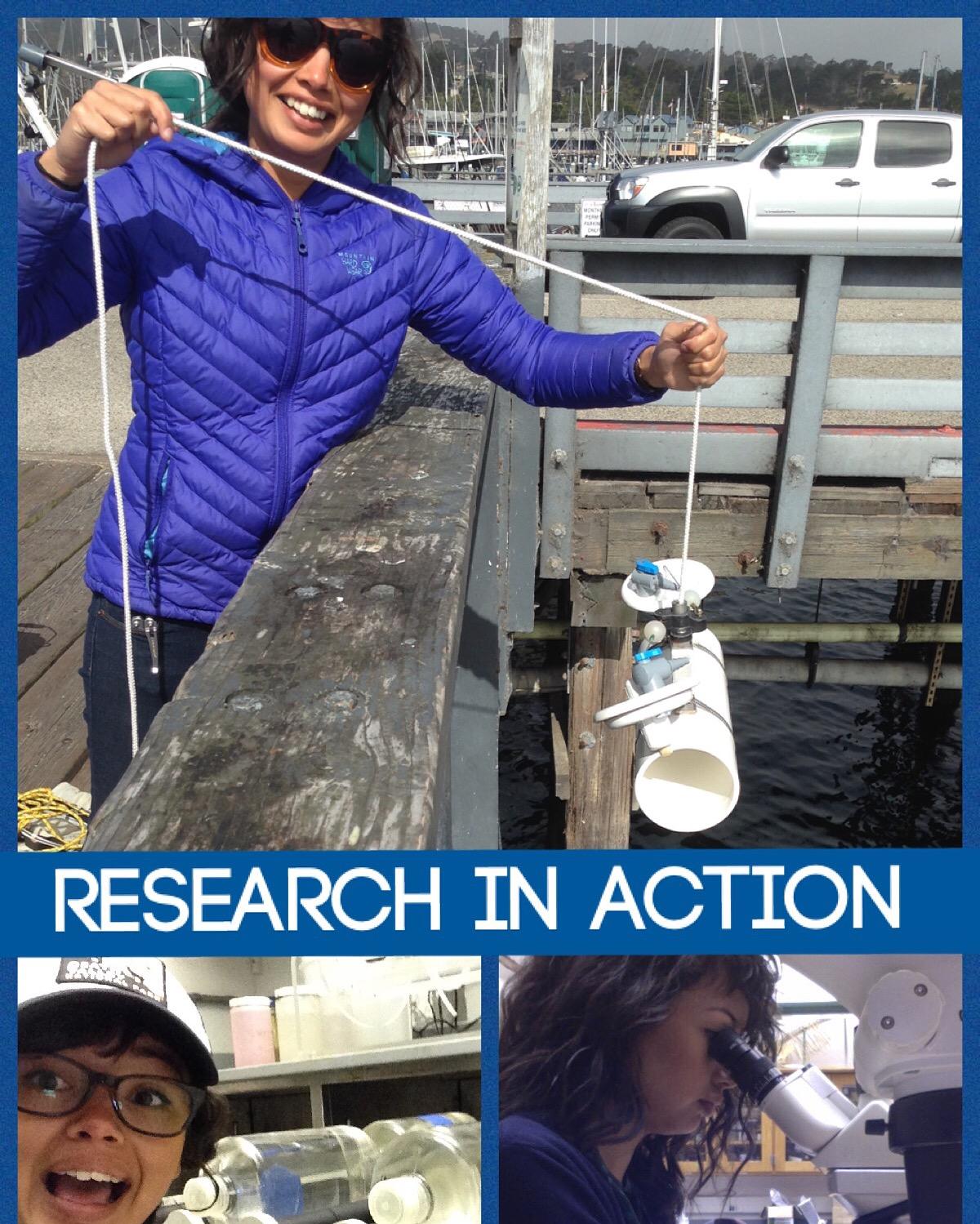 Melia collecting diatom samples at Moss Landing
