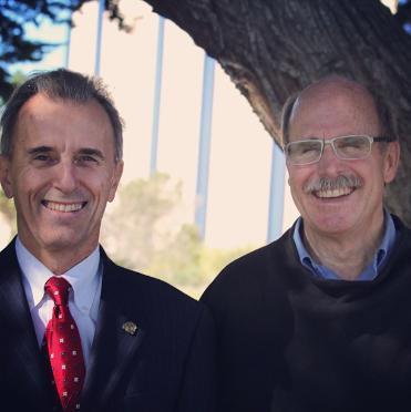 Paul Saffo and Eduardo Ochoa