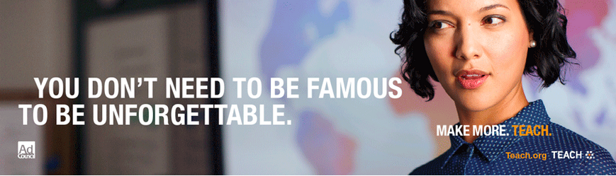 Tagline. You don't need to be famous to be unforgettable. Make more. Teach.