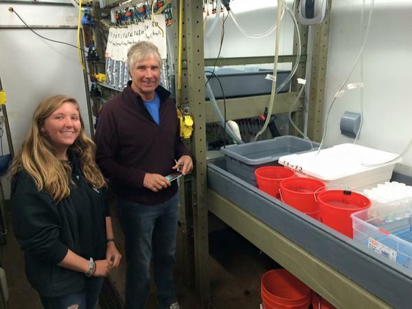 Madison and her mentor at MBARI, Dr. Jim Barry